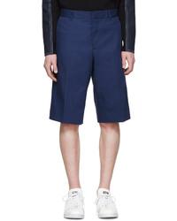 Pantalones cortos de algodón azul marino de Givenchy