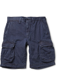 Pantalones cortos de algodón azul marino de Incotex