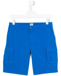Pantalones cortos de algodón azules de Armani Junior