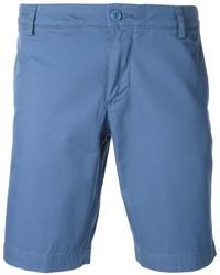 Pantalones cortos de algodón azules de Lacoste