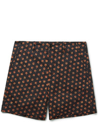 Pantalones Cortos de Algodón con print de flores Negros de Gucci