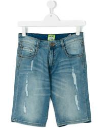 Pantalones cortos de algodón desgastados en verde azulado de Vingino