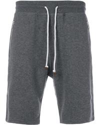 Pantalones cortos de algodón en gris oscuro de Brunello Cucinelli