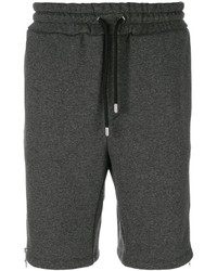 Pantalones Cortos de Algodón en Gris Oscuro de Versus