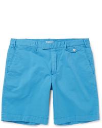 Pantalones cortos de algodón en turquesa de Boglioli