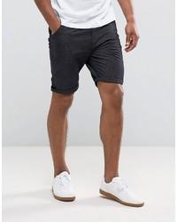 Pantalones cortos de algodón estampados azul marino de Brave Soul