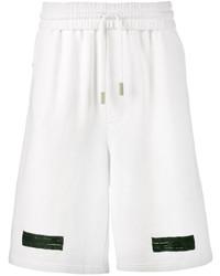 Pantalones cortos de algodón estampados blancos de Off-White