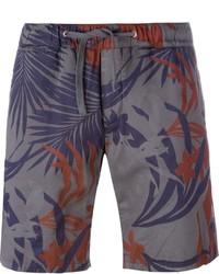 Pantalones Cortos de Algodón Estampados en Gris Oscuro de Eleventy