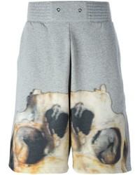 Pantalones Cortos de Algodón Estampados Grises de Givenchy
