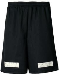 Pantalones cortos de algodón estampados negros de Off-White