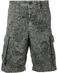 Pantalones Cortos de Algodón Estampados Verde Oliva de Incotex