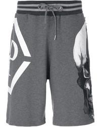 Pantalones cortos de algodón grises de Philipp Plein
