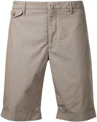 Pantalones Cortos de Algodón Marrón Claro de Incotex