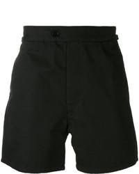 Pantalones cortos de algodón negros de Maison Margiela