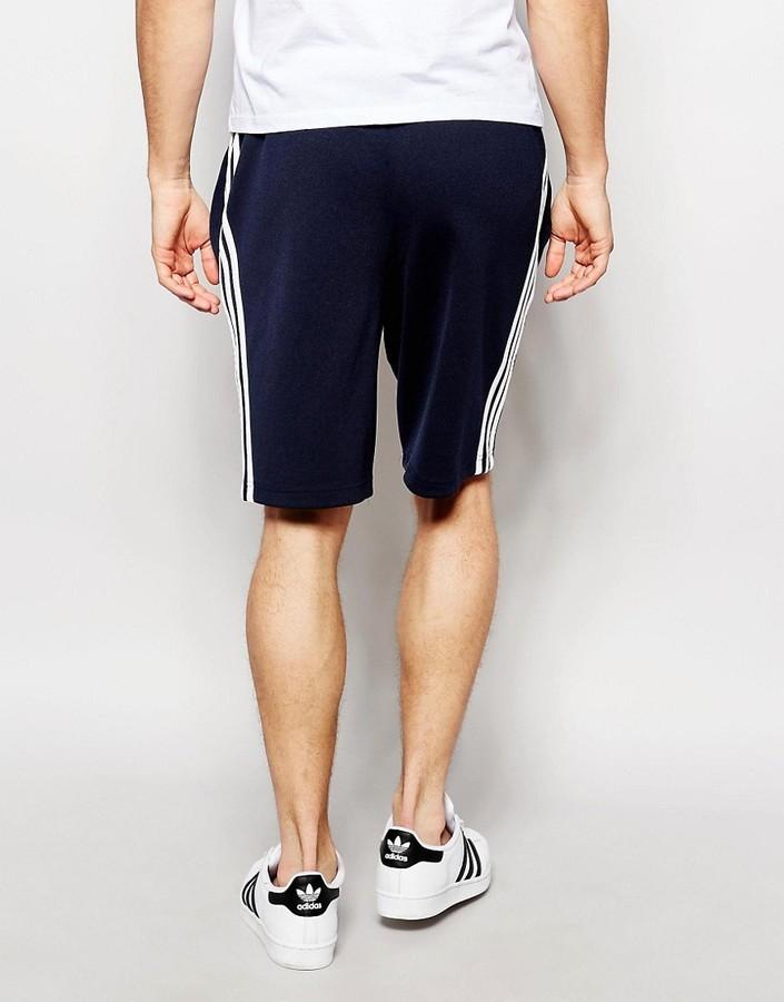 Pantalones cortos de algodón negros de adidas