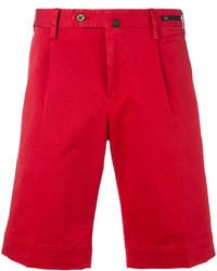 Pantalones Cortos de Algodón Rojos de Pt01