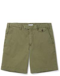 Pantalones cortos de algodón verde oliva de Boglioli