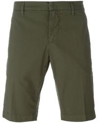 Pantalones cortos de algodón verde oliva de Dondup