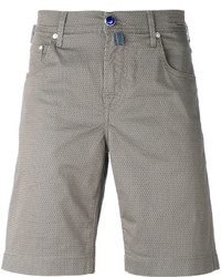 Pantalones cortos de algodón verde oliva de Jacob Cohen