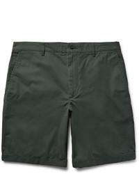 Pantalones cortos de algodón verde oscuro de Club Monaco