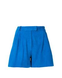 Pantalones cortos de ante azules de Salvatore Santoro