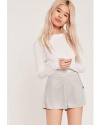 Pantalones cortos de ante grises