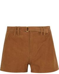 Pantalones Cortos de Ante Marrón Claro de Frame