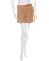 Pantalones cortos de ante marrónes