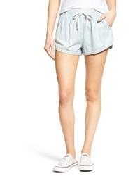 Pantalones cortos de cambray celestes