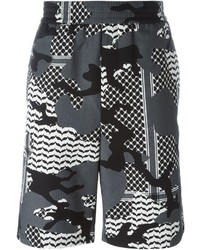 Pantalones cortos de camuflaje grises