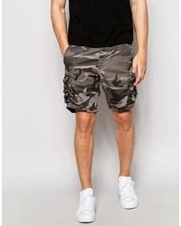 Pantalones cortos de camuflaje marrónes