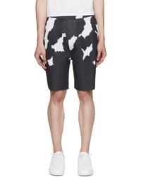 Pantalones cortos de camuflaje negros de Neil Barrett