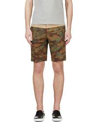 Pantalones cortos de camuflaje verde oliva de Moncler