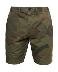Pantalones Cortos de Camuflaje Verde Oliva de Paul Smith