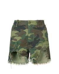 Pantalones Cortos de Camuflaje Verde Oliva de R13