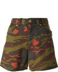 Pantalones Cortos de Camuflaje Verde Oscuro de Jean Paul Gaultier