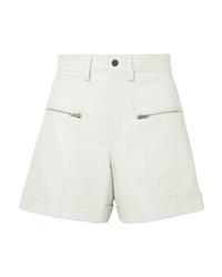 Pantalones cortos de cuero blancos de Isabel Marant