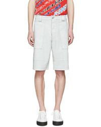 Pantalones cortos de cuero blancos de Kenzo