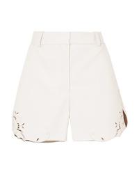Pantalones cortos de cuero blancos de Stella McCartney
