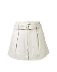 Pantalones cortos de cuero grises de IRO
