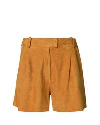 Pantalones cortos de cuero naranjas