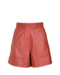 Pantalones Cortos de Cuero Naranjas de Lilly Sarti