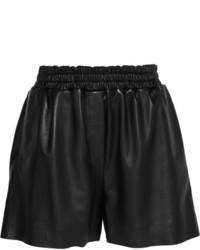 Pantalones cortos de cuero negros de Acne Studios