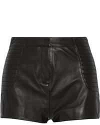 Pantalones cortos de cuero negros de Balmain