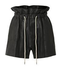Pantalones cortos de cuero negros de Bassike