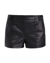 Pantalones Cortos de Cuero Negros de Even&Odd