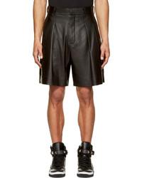Pantalones cortos de cuero negros de Givenchy