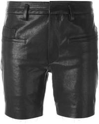 Pantalones cortos de cuero negros de Haider Ackermann