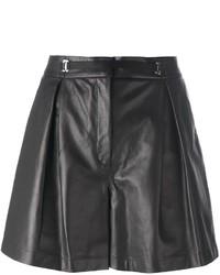 Pantalones cortos de cuero negros de La Perla