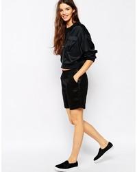 Pantalones cortos de cuero negros de Only
